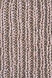 Fond brun de laine tricoté de texture Macro, plan rapproché Rétro modifié la tonalité Photographie stock libre de droits