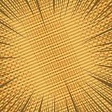 Fond brun dynamique de page comique illustration stock