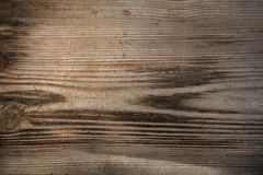 Fond brun en bois, panneaux du ¾ LD de Ð photographie stock libre de droits