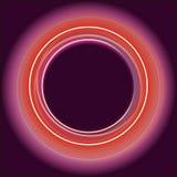 Fond burgudy au néon brillant de cercles Images stock
