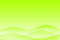 Fond calmant ondulé vert abstrait illustration de vecteur