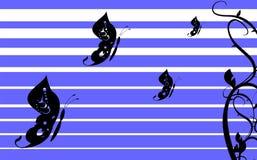 Fond card5 de tatouage de papillon illustration stock