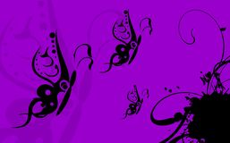 Fond card8 de tatouage de papillon illustration stock