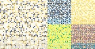 Fond carré abstrait de mosaïque de Pixel Modèle coloré sans couture de tuiles Image libre de droits