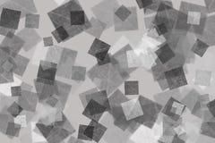 Fond carré argenté Photos libres de droits
