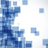 Fond carré bleu abstrait Image stock