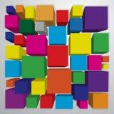 Fond carré coloré Images libres de droits