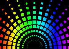 Fond carré d'arc-en-ciel Images libres de droits