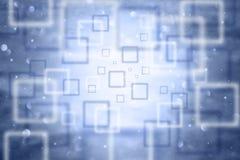Fond carré de bleu de bokeh brouillé par résumé Photos libres de droits