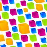 Fond carré de cubes vifs Illustration Libre de Droits