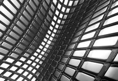 Fond carré en aluminium abstrait brillant de configuration Image libre de droits