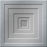 Fond carré en métal Photos libres de droits