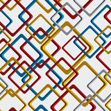 Fond carré géométrique de vecteur lumineux, tapotement sans couture rhombique Image stock