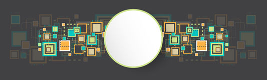 Fond carré grunge de vecteur rétro Image stock