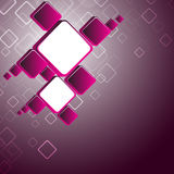 Fond carré rose abstrait Photos stock
