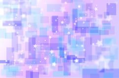Fond carré rose et bleu Image libre de droits
