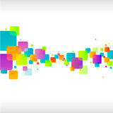 Fond carré coloré abstrait Image stock