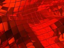 Fond carrelé abstrait r3fléchissant rouge Photos libres de droits