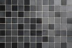 Fond carrelé noir et gris photos stock