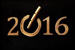 Fond chanceux de fête de la nouvelle année 2016 Photos stock