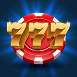 Fond chanceux de fente de victoire de 777 nombres Jeu de vecteur et concept de casino Photographie stock