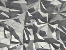 Fond chaotique concret de mur de modèle d'architecture abstraite Photo libre de droits