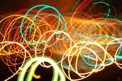 Fond chaotique de lumières Photographie stock libre de droits