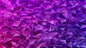 Fond chaotique de modèle de triangle de mosaïque abstraite pourpre - conception graphique géométrique de vecteur des triangles illustration de vecteur