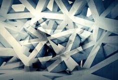 Fond chaotique produit numérique abstrait de la structure 3d illustration de vecteur