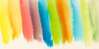 Fond chaud abstrait d'aquarelle Fond coloré frais Photographie stock