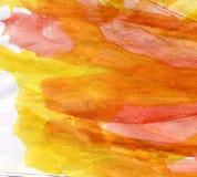 Fond chaud d'aquarelle images stock