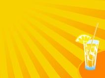 Fond chaud de boissons d'été illustration libre de droits