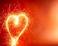 Fond chaud de coeur photo libre de droits