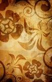 Fond chaud de cru avec le cadre foncé Image stock