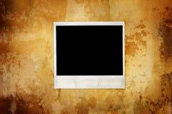 Fond chaud de cru avec le polaroïd vide Photographie stock libre de droits