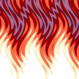 Fond chaud de flammes illustration de vecteur