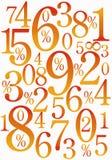 Fond chaud de nombres illustration de vecteur