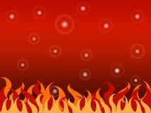 Fond chaud du feu de bulle Image libre de droits