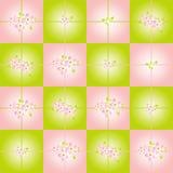 Fond Checkered avec les fleurs roses illustration libre de droits