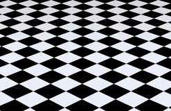 Fond checkered noir et blanc Photos stock