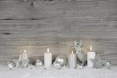Fond chic minable de Noël dans la couleur grise, blanche et argentée images libres de droits