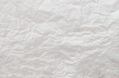 Fond chiffonné de livre blanc Photographie stock