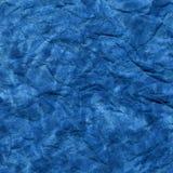 Fond chiffonné par aquarelle bleue Photographie stock libre de droits