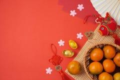 Fond chinois de nouvelle année avec les décorations traditionnelles pour Spr