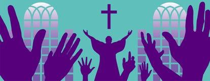 Fond chrétien panoramique illustration libre de droits