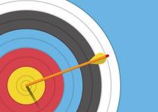 Fond : cible de tir à l'arc avec une flèche Images libres de droits