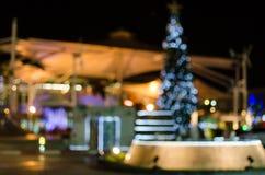 Fond circulaire abstrait de bokeh de jour de Noël et de nouvelle année Images stock