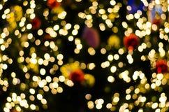 Fond circulaire abstrait de bokeh de jour de Noël et de nouvelle année Photos libres de droits