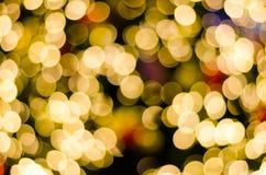 Fond circulaire abstrait de bokeh de jour de Noël et de nouvelle année Images libres de droits