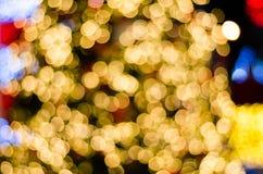 Fond circulaire abstrait de bokeh de jour de Noël et de nouvelle année Image libre de droits